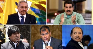 Castro, Maduro, Morales, Correa y Ortega