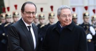 Hollande y CAstro