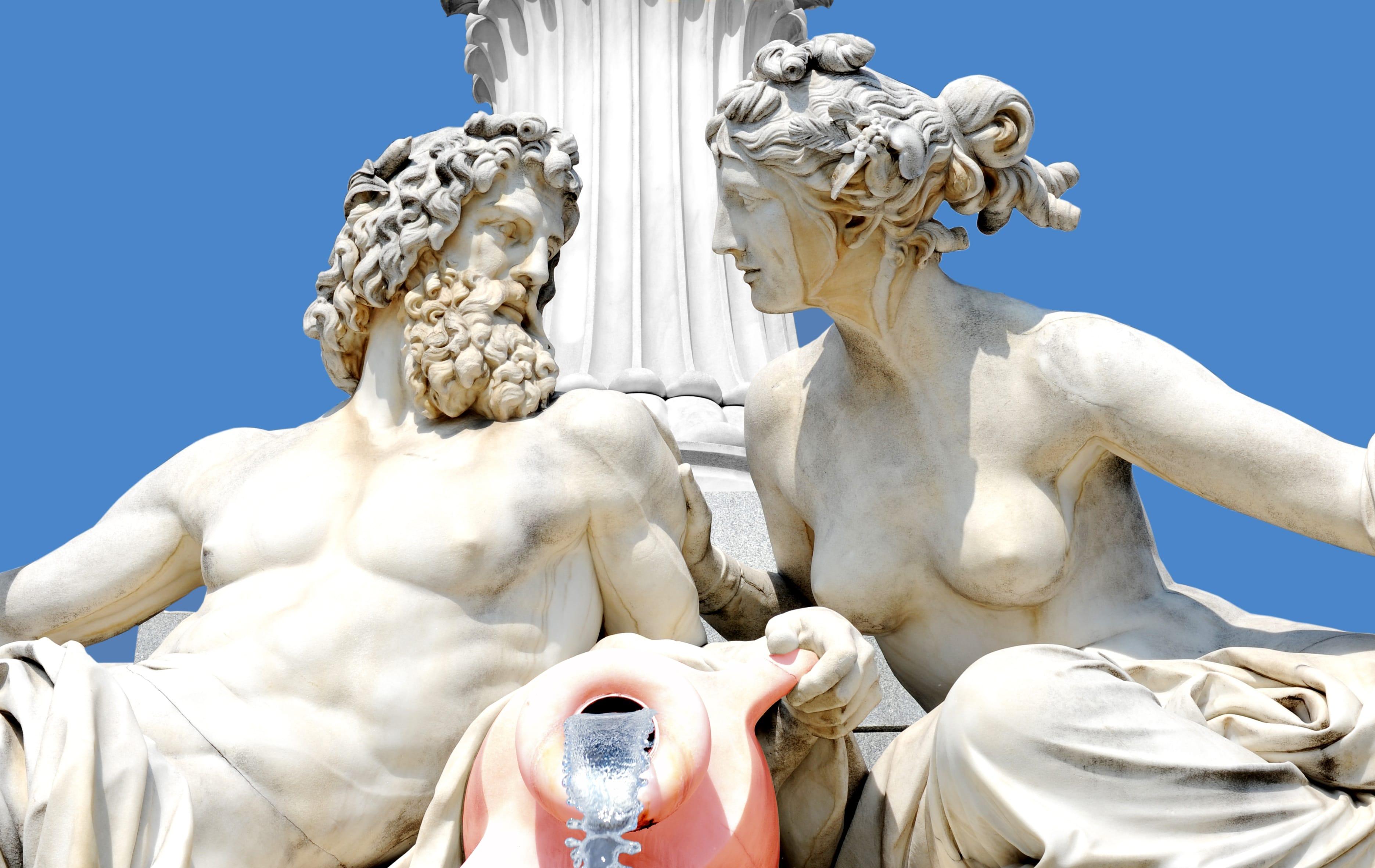Dionisio y Afrodita