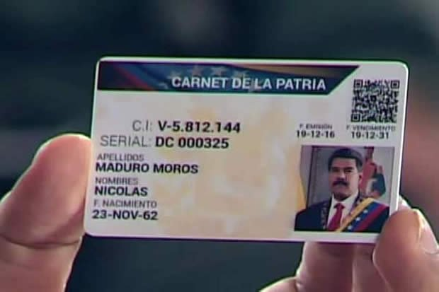 Carnet de la Patria de Maduro 4