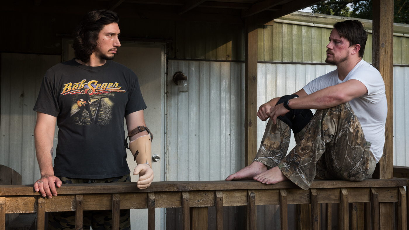 Brothers Clyde (Adam Driver) and Jimmy Logan (Channing Tatum) in Steven Soderbergh's Logan Lucky.