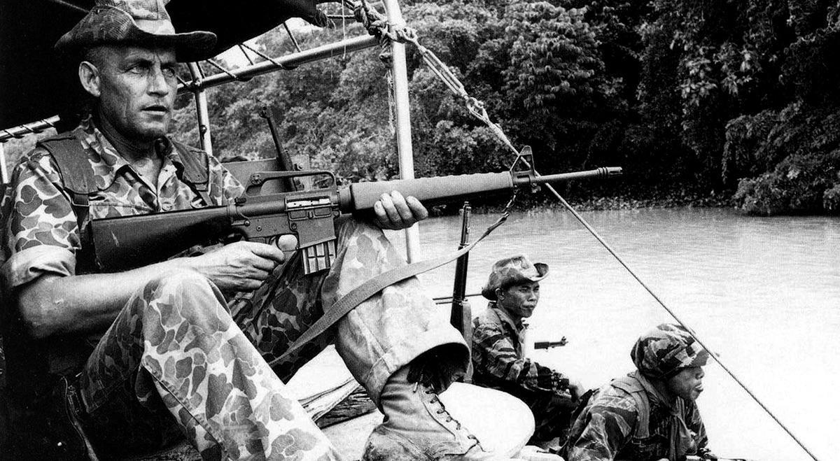 Soldado en la guerra de Vietnam