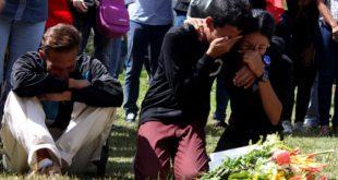 Entierro de los asesinados en El Junquito