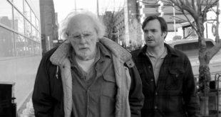 "This image released by Paramount Pictures shows Bruce Dern as Woody Grant, left, and Will Forte as David Grant in a scene from the film ""Nebraska,"" about a booze-addled father who makes to Nebraska with his estranged son in order to claim a million dollar Mega Sweepstakes Marketing prize. (AP Photo/Paramount Pictures) ORG XMIT: NYET157"