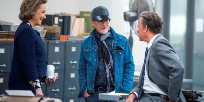 Meryl Streep, Steven Spielberg y Tom Hanks