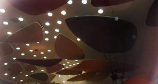 Nubes de Calder en el Aula Margna de la UCV