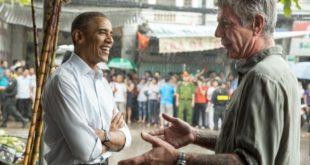 Barack Obama y Anthony Bourdain
