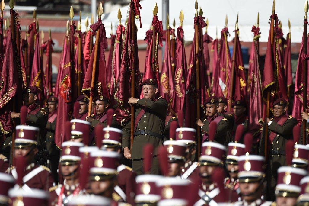 Ceremonia militar en Caracas
