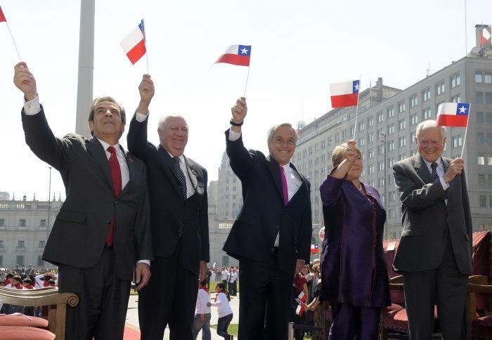 Cinco presidentes de Chile