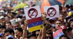 Sociedad venezolana que protesta