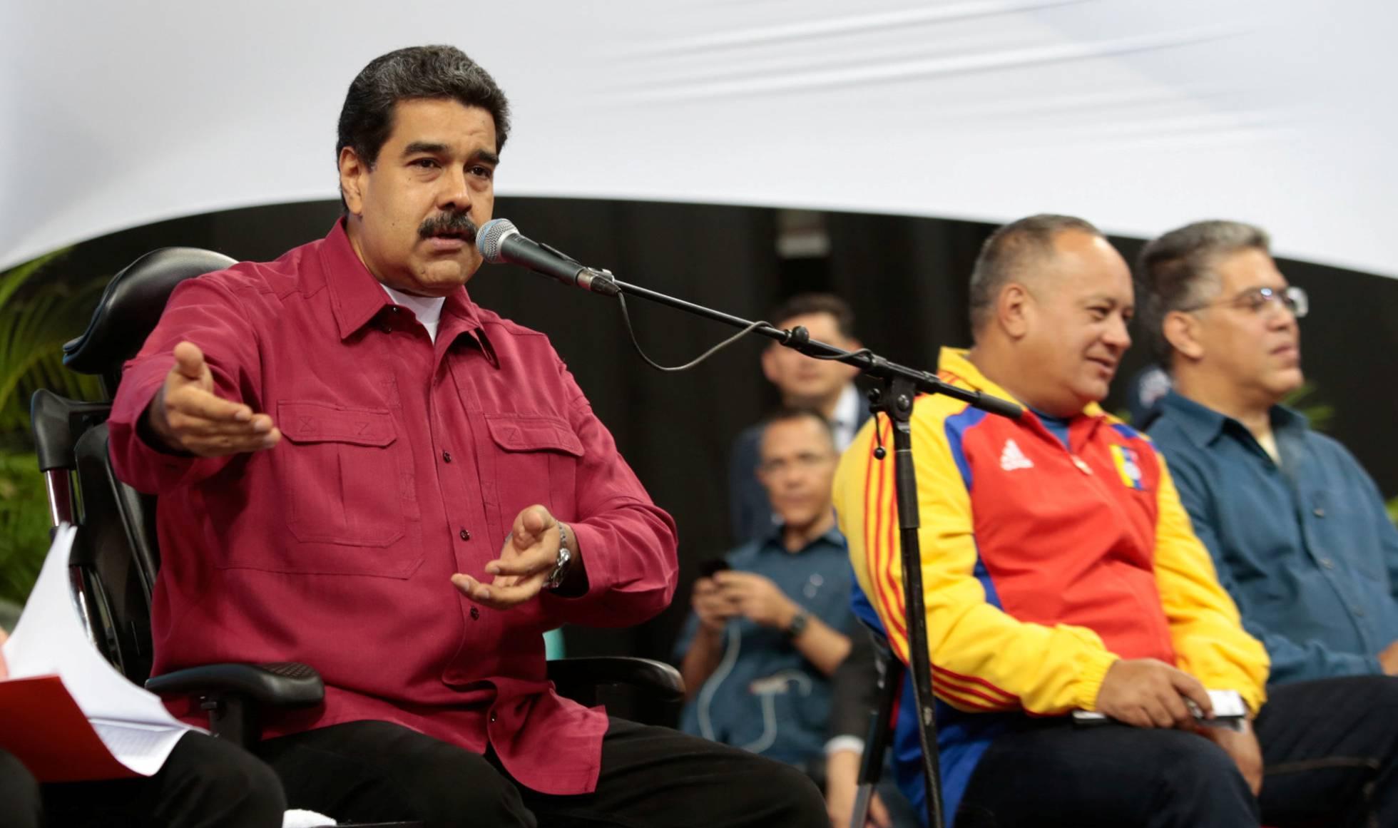 Maduro y su banda