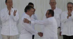 Firma del acuerdo de paz en La Habana