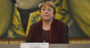 Caracas 20 de junio 2019 La Alta Comisionada de la ONU para los Derechos Humanos, Michelle Bachelet, se reœne con diferentes autoridades en Casa Amarilla (Canciller'a) en Caracas, Venezuela.  MAGALY VALENCIA/ATON CHILE